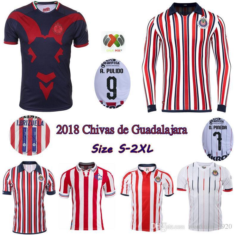 b125a4b6 2018 CLUB WORLD CUP Chivas de Guadalajara jerseys 18 19 home away 3rd Chivas  110th soccer shirts E. LOPEZ O.PINEDA A.PULIDO football shirt