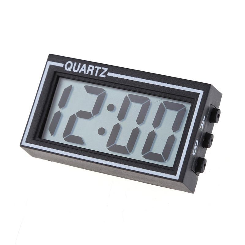 جديد 1 قطع البسيطة الرقمية ساعة مكتب lcd السيارات سيارة شاحنة لوحة التاريخ الوقت التقويم ساعة أسود تزيين المنزل