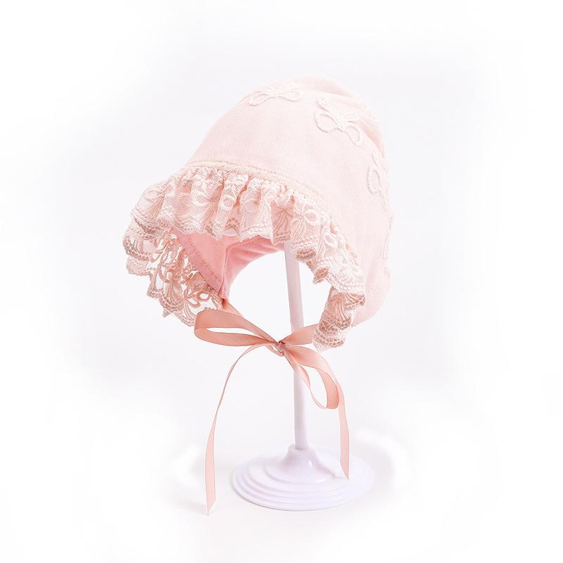 Lace Princess Newborn Hat Baby Beanie Cap Pink Infant Girls Bonnet Hat photography props Shower Gift 3-10M