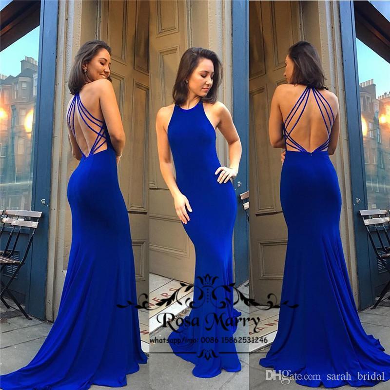 Backless atractivos más el tamaño de sirena vestidos de baile formal del partido de tarde 2K20 baratos satén largo 2020 Black Girls Vestidos Vestido De Fiesta