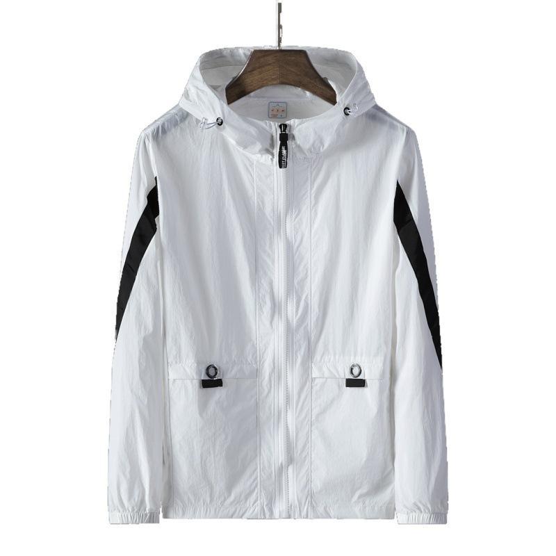 Vestes mince pour hommes Casual Couple Manteau actif de protection solaire hommes Outdoor capuchon respirant Coupe-vent 5 couleurs plus Taille S-8xl