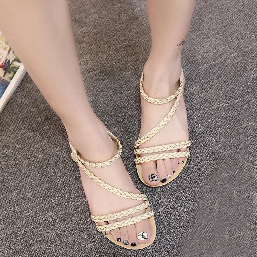 Hot Sale Women Summer Flip Flops Weave