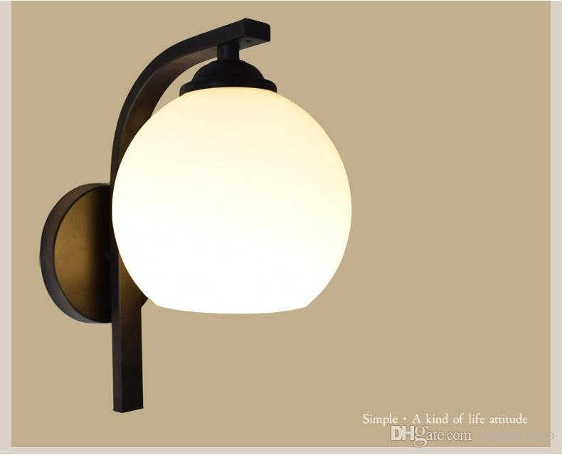 Led wall lamp hotel bedroom bedside lamp stair light aisle light simple L-shaped bracket design wall hanging lamp - M40