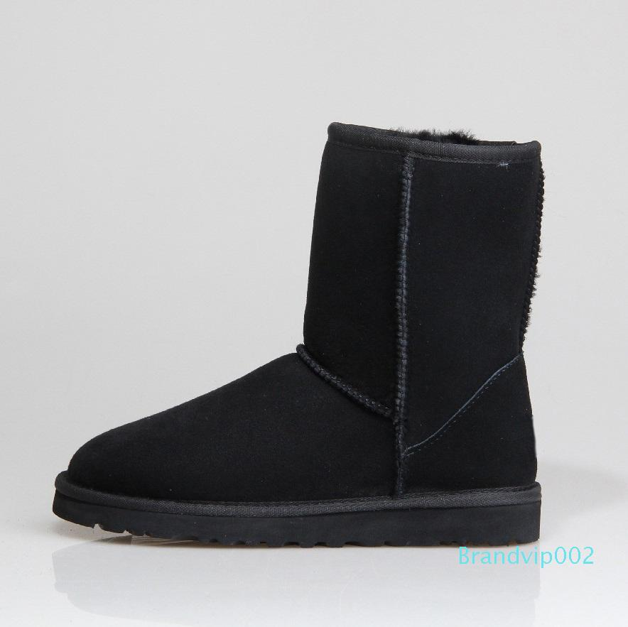 Women Snow Boots Combat Boots Classic Middle Tube Booties Flats Shoes by Lowprofile