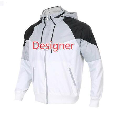 Nuovo progettista Giacche con cappotti del rivestimento della lettera della molla marca per gli uomini Windbreaker moda Felpe Contrasto felpate colore Abbigliamento S-2XL