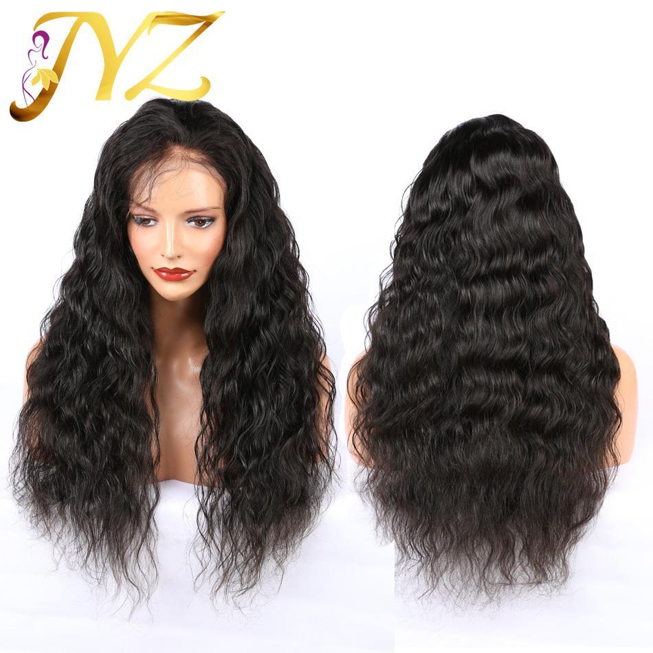 JYZ en vrac vague profonde humaine perruques dentelle cheveux Top qualité 13x4 Lace Front Wigs avec bébé cheveux 130% 150% Densité brésilienne cheveux perruques de dentelle