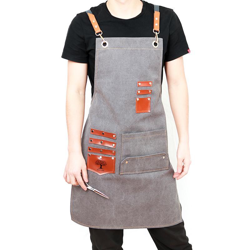 Avental coreano personalizado moda Café Lojas professor cabeleireiro restaurante chinês roupas de trabalho homens e mulheres de impressão