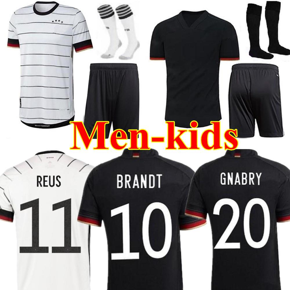 2020 2021 독일 남자 여자 아이 키트 축구 유니폼 청소년 20 21 HUMMELS KROOS 드락 슬러 레 우스 MULLER GOTZE KIMMICH 축구 셔츠 유니폼