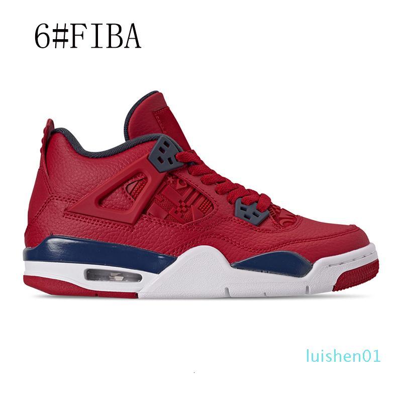2020 Basketball-Schuh-4s Nero Fiba What The Cool Grey Bred Silt Red Reines Geld Flügel 4 Mens-Sport-Turnschuhe Traienrs Größe 7-13 LL01