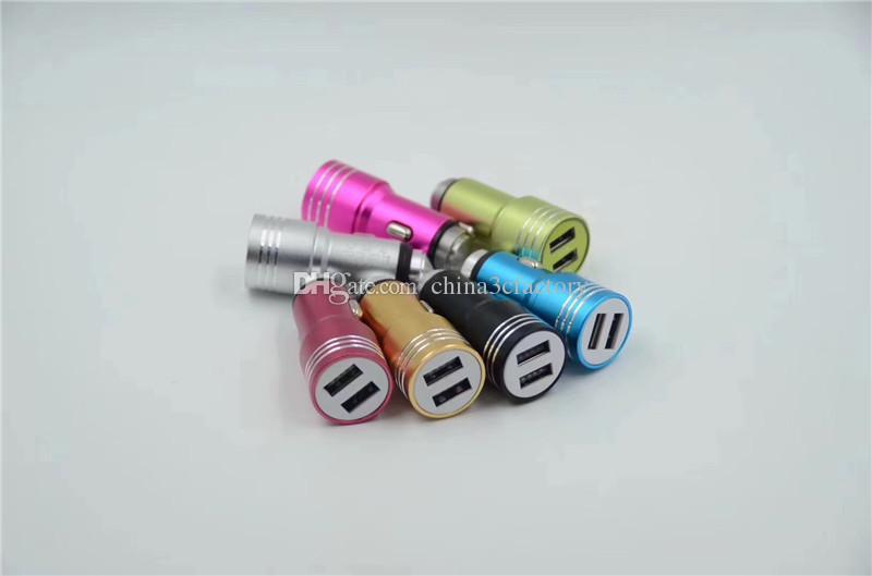 Безопасность Молоток нержавеющей стали Двойные Порты USB адаптер питания Автомобильное зарядное устройство 2A для Iphone хз макс Самсунга s10