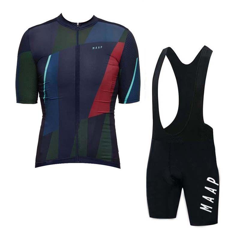 MAAP team Cycling Short Sleeves jersey bib shorts sets Men 100% Polyester Quick-Dry Bike Sportswear Roupa Ciclismo U102525
