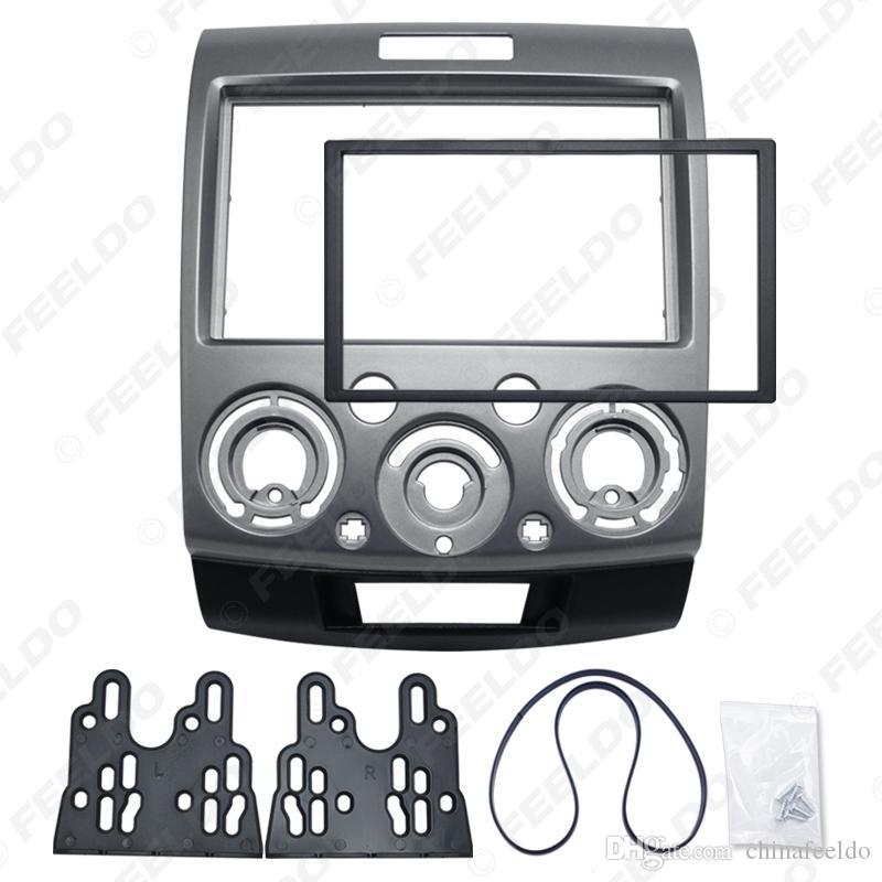 2DIN Grey Car Montagem Stereo DVD Quadro kits de instalação painel de instrumentos acabamento para Ford Everest / guarda florestal / Mazda BT-50 # 1677