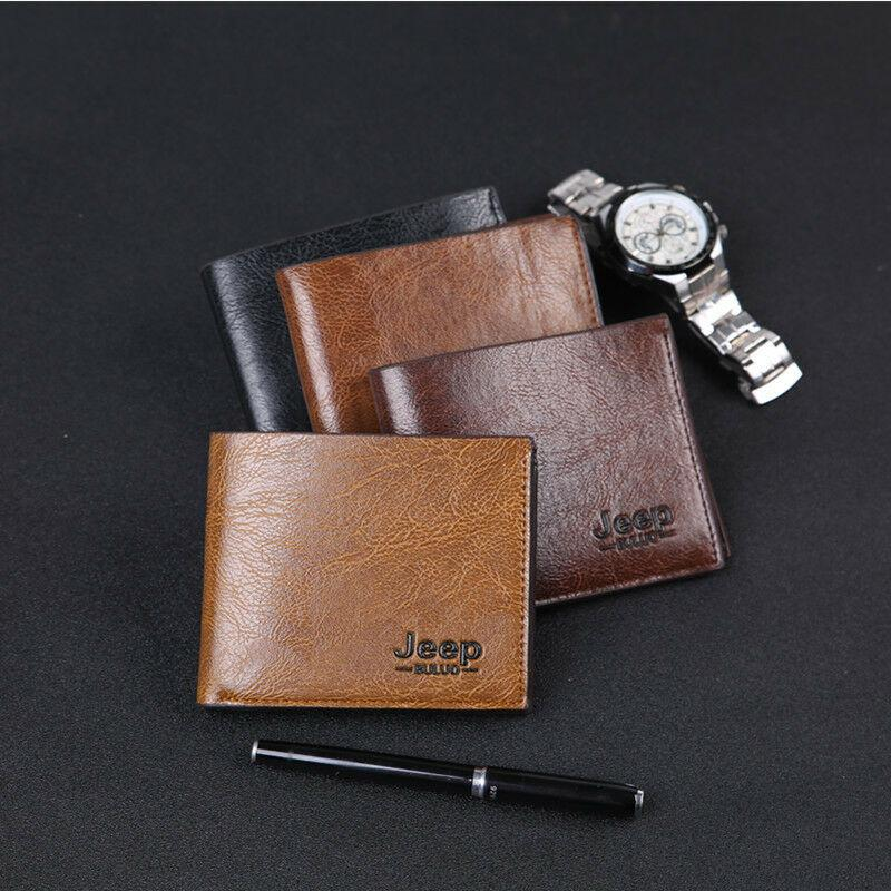 رجال الأعمال جلد طبيعي حامل BIFOLD بطاقة الائتمان رقم سليم المحفظة محفظة جيب المحفظة ذكر البنك محفظة / ID / حامل بطاقة الائتمان