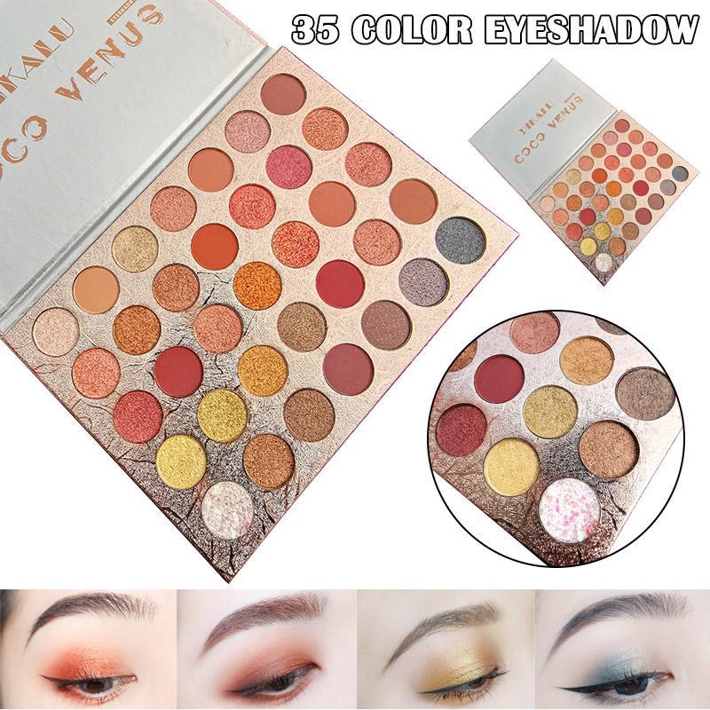 35 colori gamma di colori dell'ombretto di trucco di bellezza opaca di luccichio Ombretto Cosmetic MH88