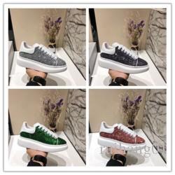2020 Designer de Luxo calçados casuais Melhores Cheap Top Quality Mens partido Sneakers Womens Moda Calçados Glitter Shinny Sneakers tênis F012