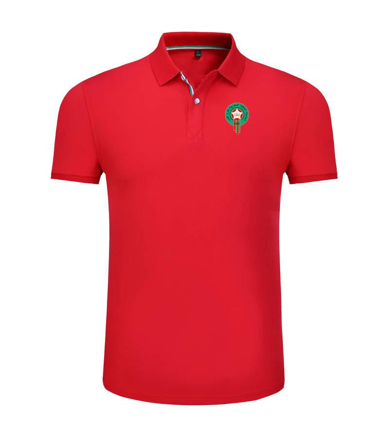 Марокко 2020 весна и лето новый хлопок футбол поло рубашка мужская с короткими рукавами лацкан унисекс поло может DIY пользовательские мужские рубашки поло