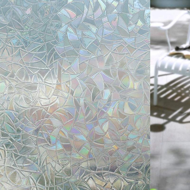 Glass Stickers For Home Living Room Bedroom 3d No Glue Static Decorative Privacy Window Films Self Adhesive For UV Blocking Heat EEA283