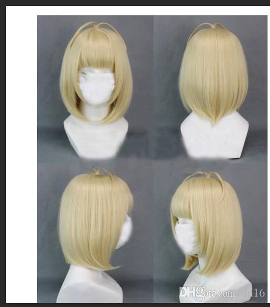 Anime Cosplay Costume Wig Kanekalon hair no lace front wigs Free deliver