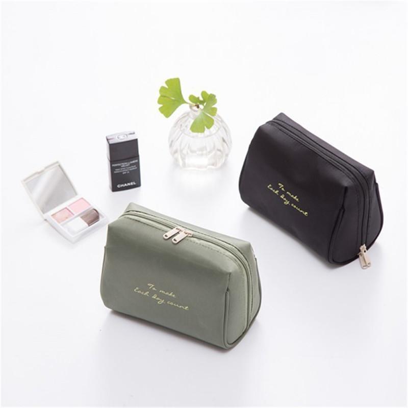 Vogvigo Женщины макияж сумка Большой сплошной цвет косметический мешок Женщины макияж Дело Профессиональные Путешествия Организатор комплекты