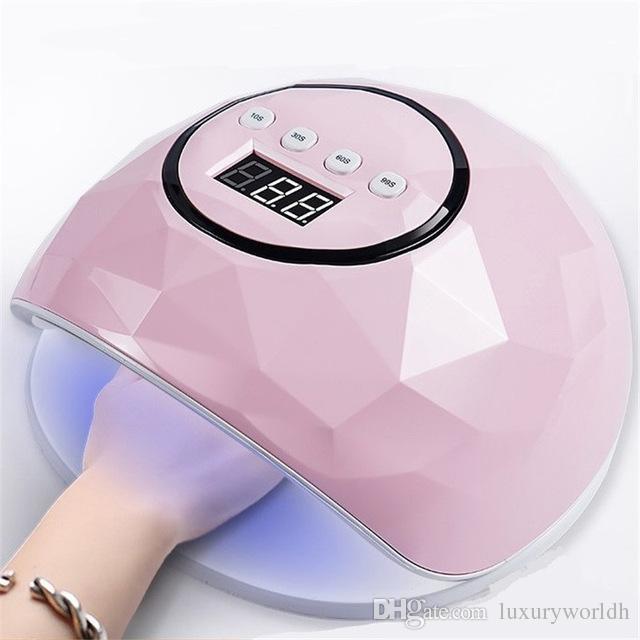 2W Led UV Lampe 24 LEDs Tous pour Nails Vernis Gel Lampe De Glace Pour Manucure LCD Affichage Auto Capteur Cabine UV Nail Outils Livraison Gratuite BB