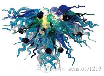 Chihuly Stil Art Deco Glasleuchter 100% Hand geblasenem Glas Moderne LED-Kristall European Style Kronleuchter für Hauptdekor