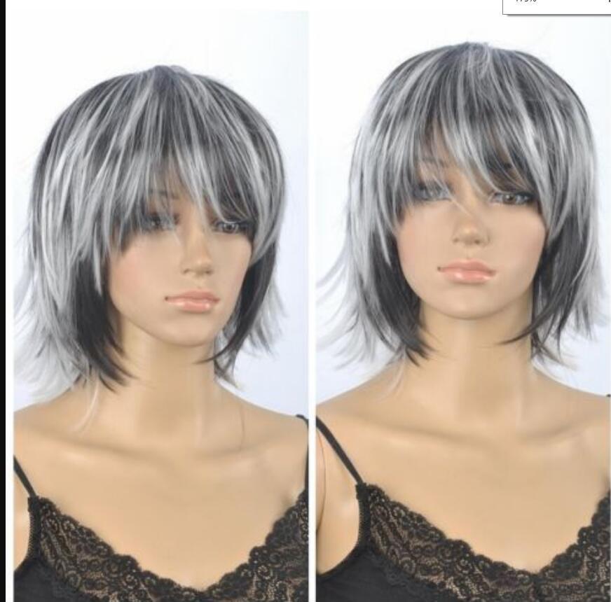 Парик горячие термостойкие Kanekalon партии волос новинка парик смешанный цвет короткий парик