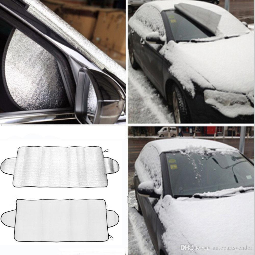 2x CAR WINDSHIELD WINDSCREEN COVER ANTI FROST SNOW ICE PROTECTOR SHIELD