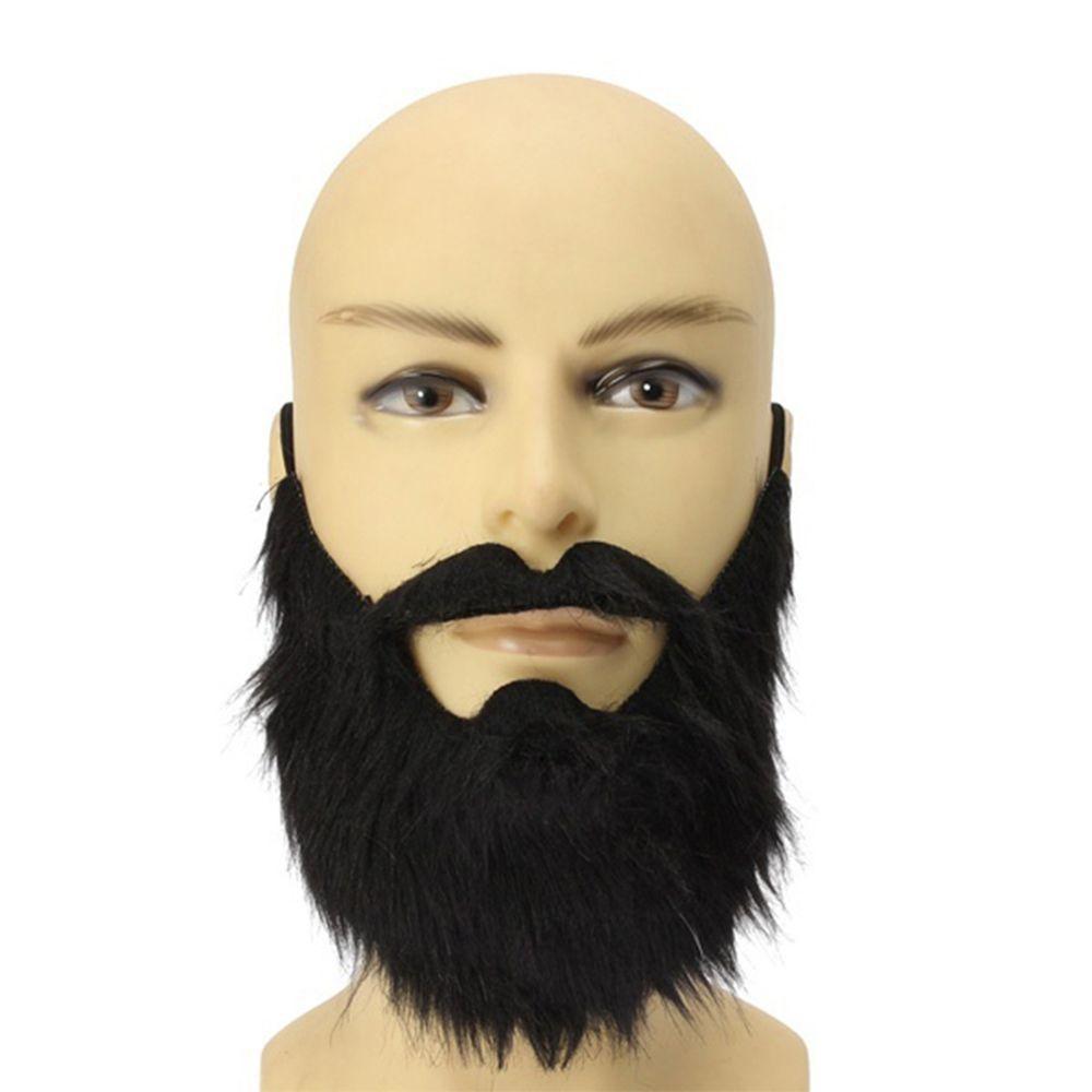 1 Unids Moda Divertida Falso Barba Árabe Barba Negra Falso Disfraz Disfraz Disfraz para Halloween Cosplay Bigote Atrezzo