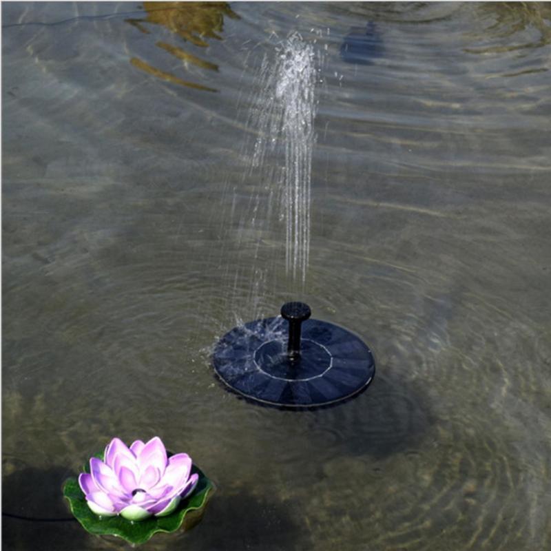 7В Солнечная Водяной насос Открытый Floating Панель на солнечных батареях для воды фонтана Растения для сада Насос Полив питания пруд Tank бассейн