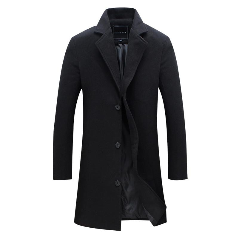New Men Wool Blends Suit Design Wool Coat Men Casual Trench Coat Design Slim Fit Office Suit Jackets Coat Drop Shipping