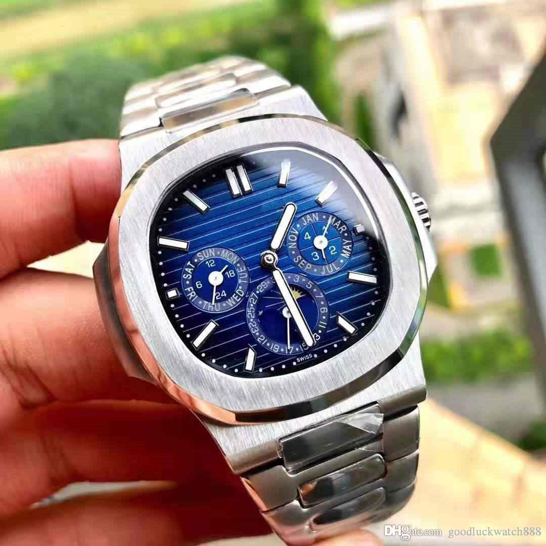 Diseñador CALIENTE del deporte del reloj elegancia serie 5740 de acero reloj mecánico automático deporte de la manera de los hombres de acero de 40 mm reloj