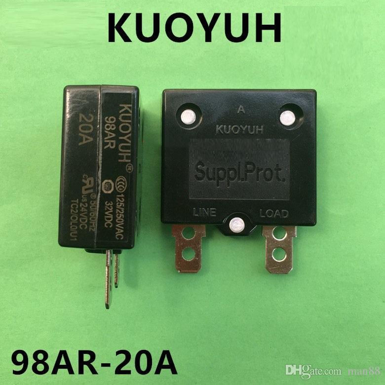 Taiwan KUOYUH Sobrecarga Protetor de Sobrecarga Interruptor Automático Reset 20A 98AR Series
