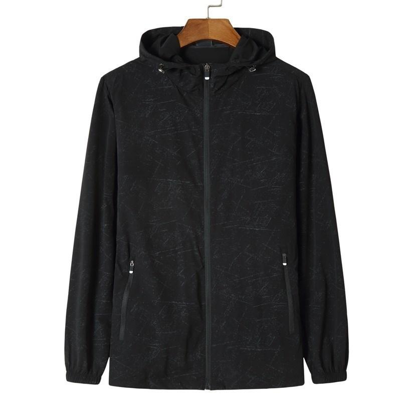 Plus Size 8XL Sonnenschutzkleidung Herren Freizeitjacken Winddichtes Ultraleichte Jacke Männer Armee Windjacke Quick Dry Jacke