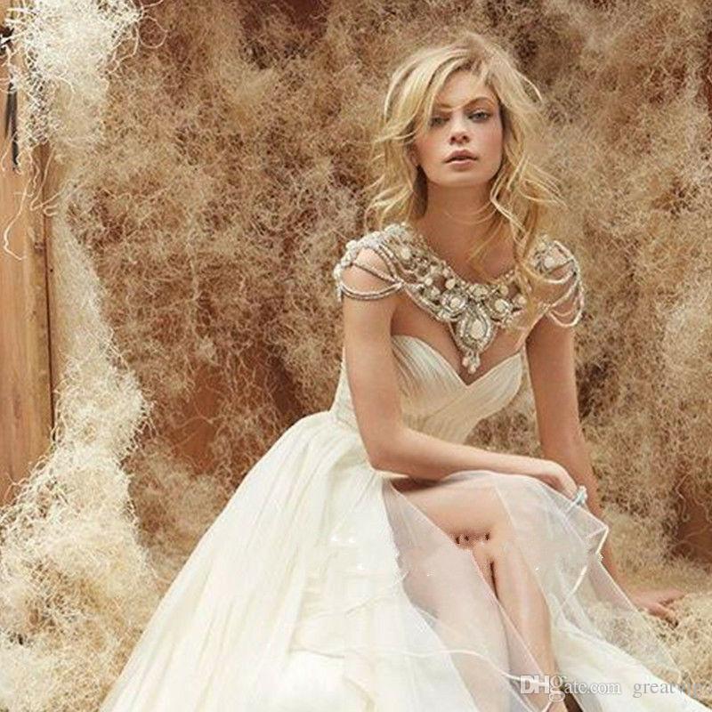 Luxury Rhinestone Wedding Dresses Jackets Crystals Beads Cape Custom Bridal Wraps Boleros Short Brides Jewelry Shawls Free Shipping