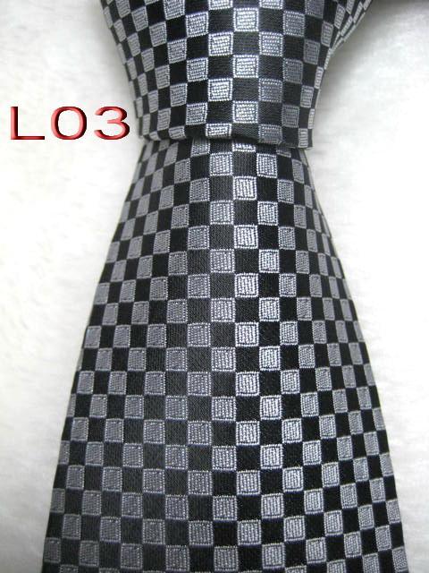 L03 # 100% soie jacquard tissé à la main cravate des hommes cravate - Yykl5179