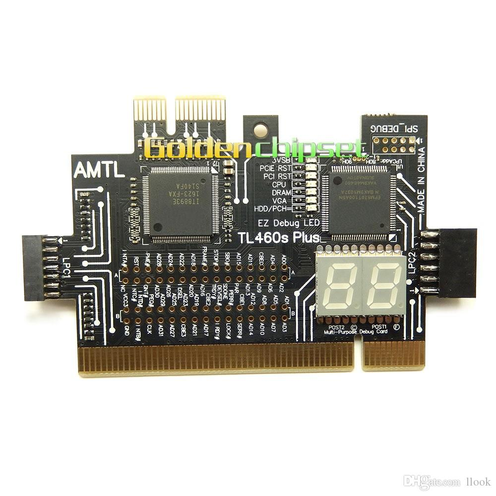 Freeshipping TL460S PLUS Universal Laptop and PC PCI PCI-E mini PCI-E LPC motherboard Diagnostic Test Analyzer Tester Debug Cards