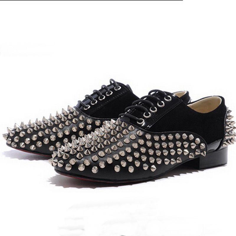 New Style Spikes Elegantes Business Party Brautkleid Greggo Orlato, Fashion Red Bottom Oxfords Schuhe, Outdoor Men Casual Wanderschuhe