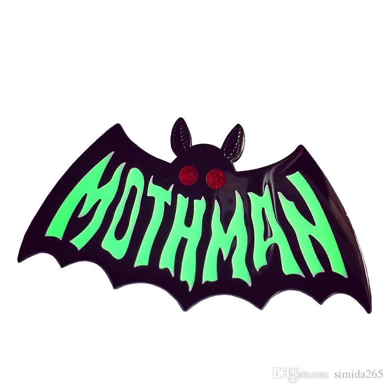 .Motman эмаль булавка свечение в темноте брошь криптозоологии отслеживания общества значок бойфренд подарок