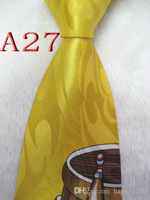 A27 # 100% Jacquard De Seda Tecido Gravata Artesanal Dos Homens Gravata