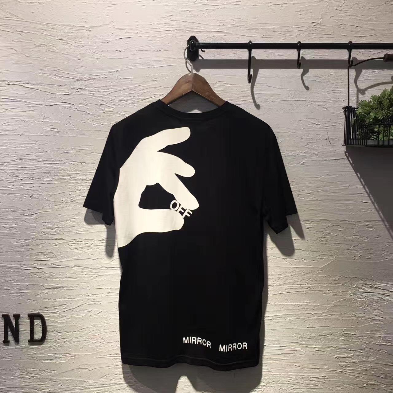 2020 New Arrival Moda Vestuário Curto O pescoço Off Casual T Shirt Men Hip Hop T-shirt Printing Cotton T-shirt Verão Tops Tees MX200611