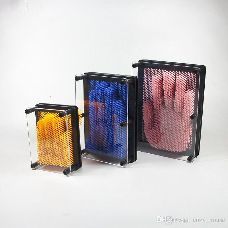 Pinart Plastik 3D İğne Oyma 3D Klon Parmak Izi Parmak Izi Iğne Baskı Sonbahar Yaratıcı sevgililer Günü Hediyesi