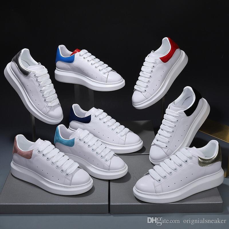 2020 Siyah Womens Chaussures Ayakkabı Güzel Platformu Casual Sneakers Lüks Tasarımcılar Ayakkabı Deri Katı Renkler Ayakkabı boyutu 36-45 Elbise
