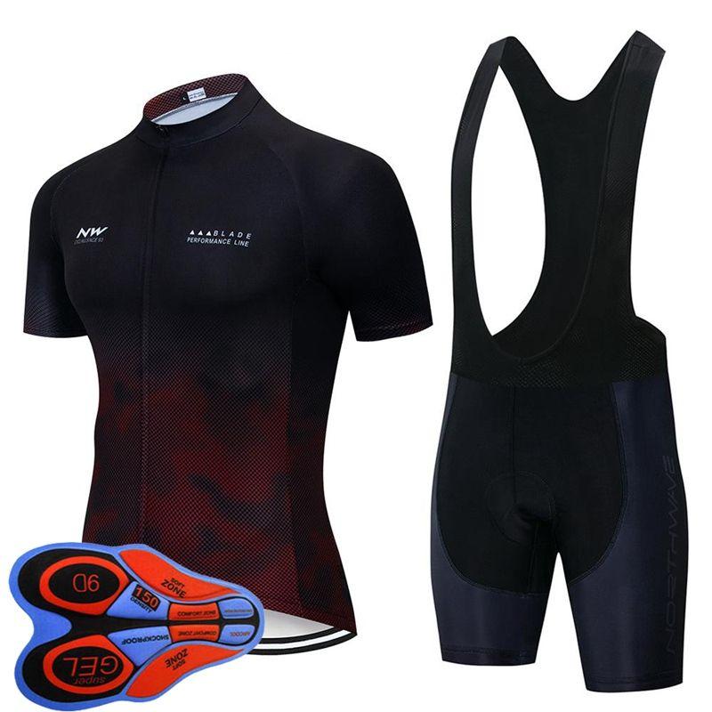 2019 NW Bisiklet Jersey Erkekler kısa kollu ropa ciclismo hombre bisiklet Kıyafetler triatlon takımı Northwave Bisiklet Giyim bisiklet forması Y101902
