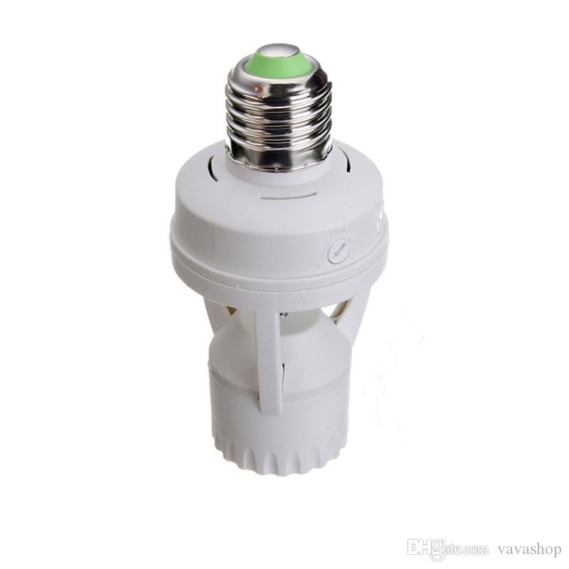 PIR 적외선 모션 센서 E27 LED 램프베이스 홀더 조명 제어 스위치 소켓 변환기