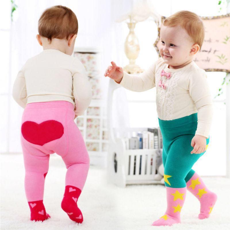 Bébés filles TightsStocking Coeur Dessins Coton chaud Collant Bas Hiver Printemps Fille Bas 10-24M