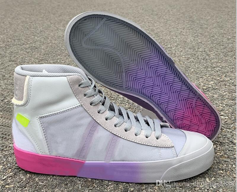 Beste Qualität Blazer Studio Mid Königin Athletisch Designer Schuhe Wolf Grau Cool Gray Pure Platinum Volt Mode Turnschuhe Schiff mit Kasten Size36-46