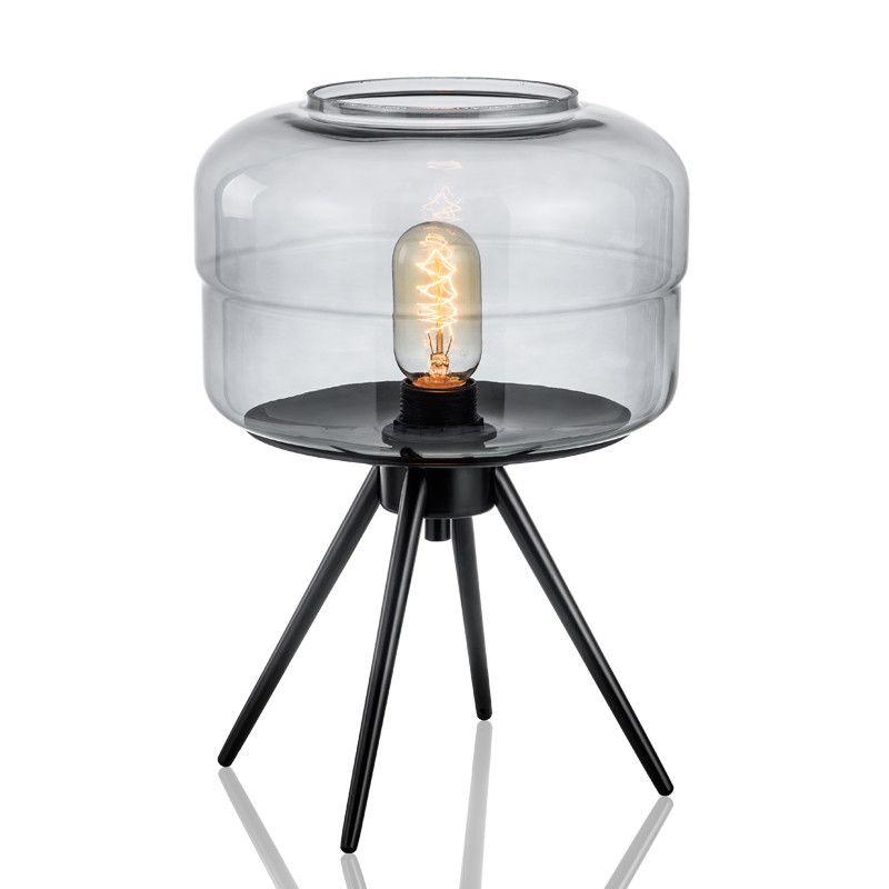 Современная настольная лампа дым серые оттенки настольная лампа для гостиной бар спальня кабинет новое домашнее освещение TA042