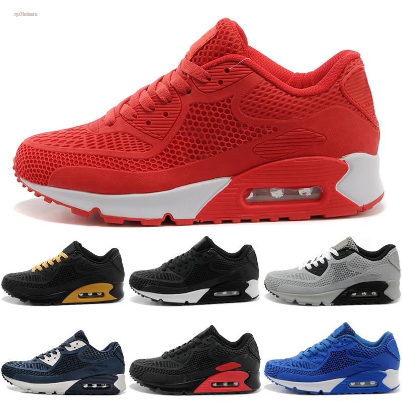 Nike air max 90 KPU 2020 Geliş kpu OG Yardımcı Erkek Ayakkabı En İyi Kalite Klasik Airs Üçlü Beyaz Siyah Kırmızı Mavi Tasarımcı Erkek Eğitmenler Boyut 40-45 Koşu