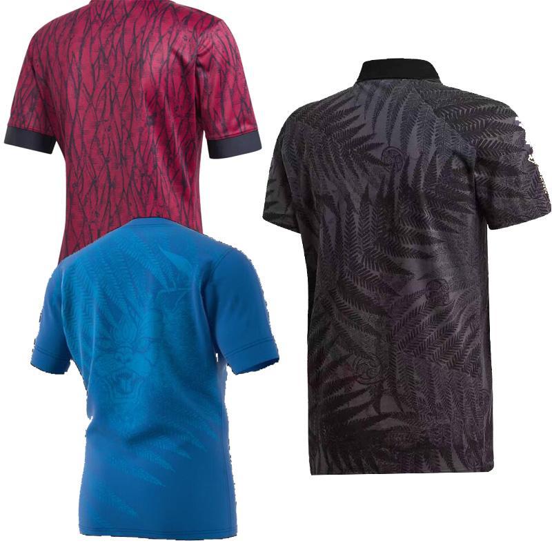 Neue 2020 All Blacks Rugby Trikot POLO Herren T-Shirts Word Cup Größe S-5XL