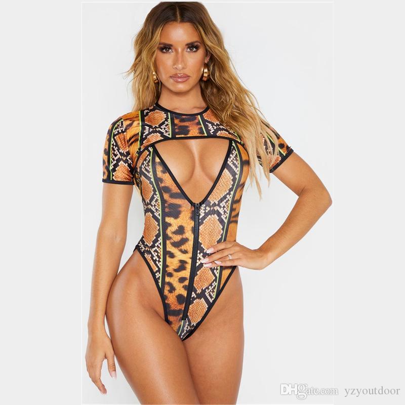 Sexy Plus Size Africano cobra Impresso Swimwear Mulheres One Piece Swimsuit 2020 High Cut Trikini de banho Monokini brasileira Suit 5XL